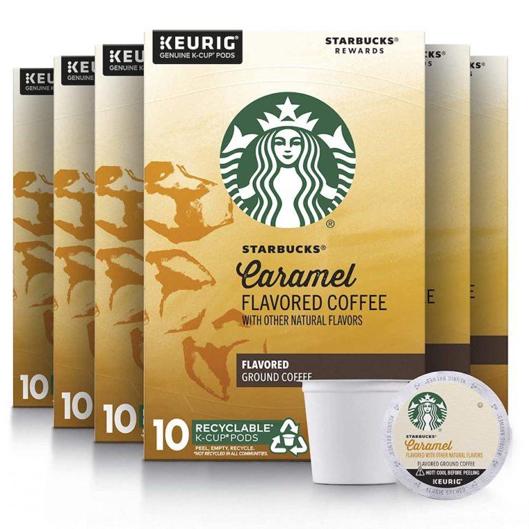 starbucks caramel flavored K cup coffee