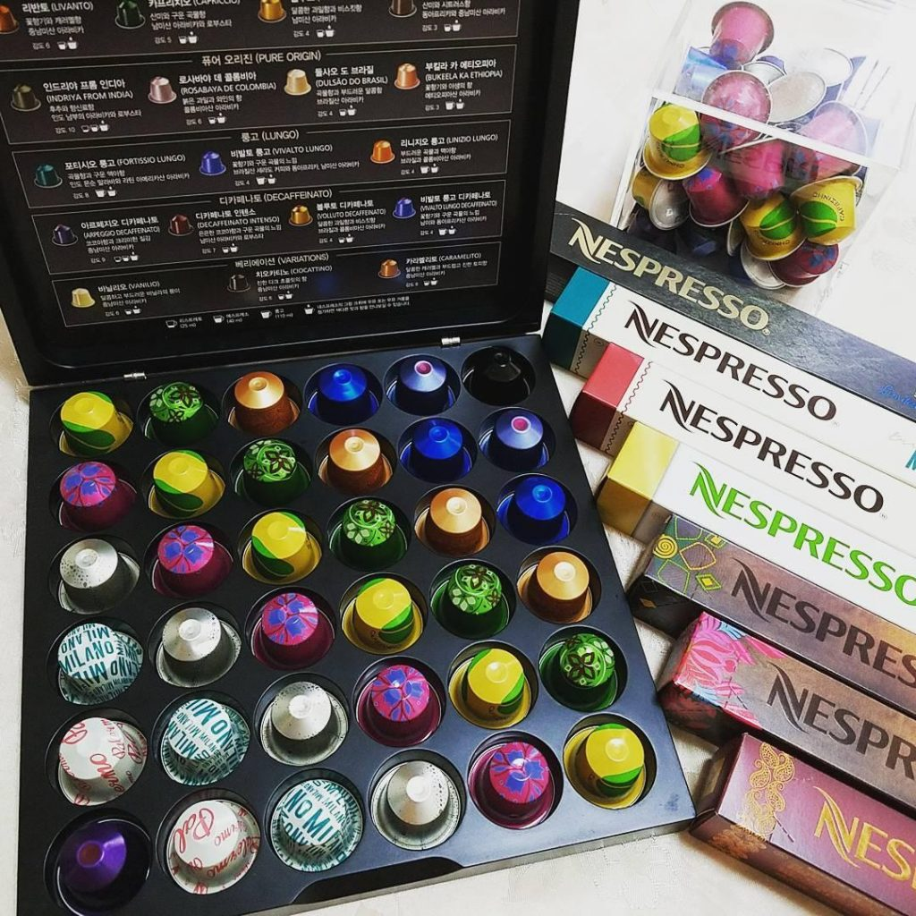 Package of Some Nespresso Capsule Flavors