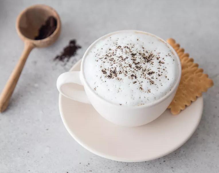 Caffe latte drink recipe