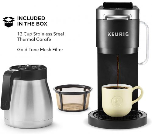 Keurig Dual Coffee Maker Come With Thermal Carafe and Gold Tone Mesh Filter