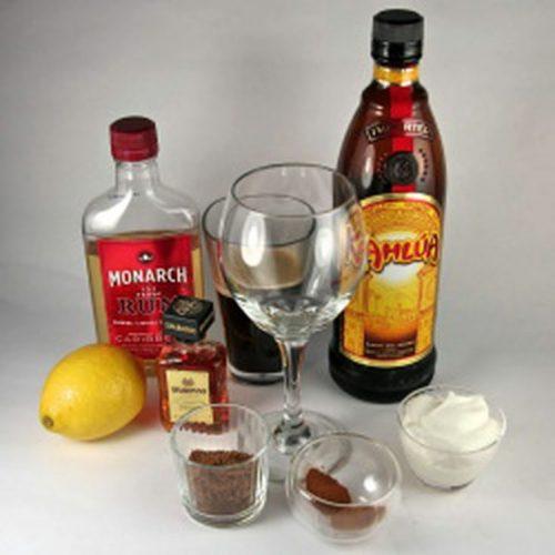 Spanish coffee ingredients